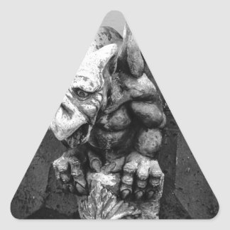 Dimitri the Gargoyle Triangle Sticker