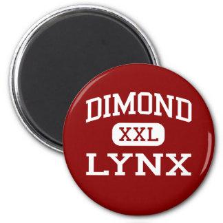 Dimond - lince - High School secundaria - Anchorag Imán Redondo 5 Cm