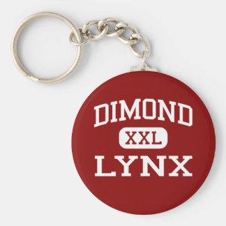 Dimond - lince - High School secundaria - Anchorag Llavero Redondo Tipo Pin