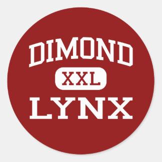 Dimond - lince - High School secundaria - Pegatina Redonda