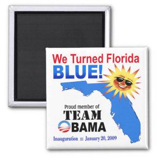 Dimos vuelta al imán azul de la Florida (blanco)