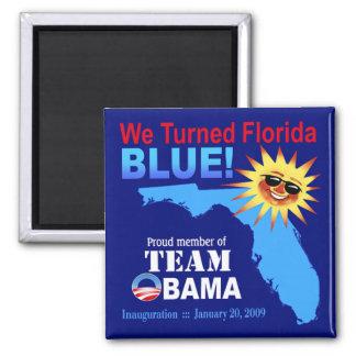 Dimos vuelta al imán azul de la Florida (la marina