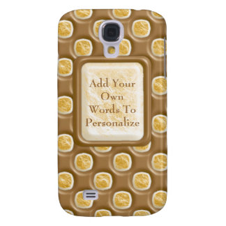 Dimple Dots - Chocolate Marshmallow Samsung Galaxy S4 Case