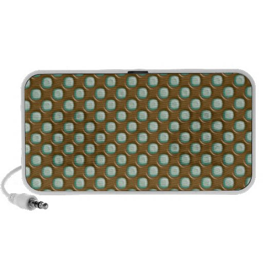 Dimple Dots - Chocolate Mint Laptop Speakers