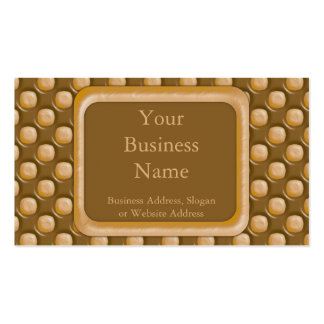 Dimple Dots - Chocolate Peanut Butter Double-Sided Standard Business Cards (Pack Of 100)