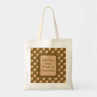 Dimple Dots - Chocolate Peanut Butter Tote Bag