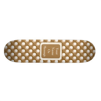 Dimple Dots - Milk Chocolate and White Chocolate Skateboard Deck