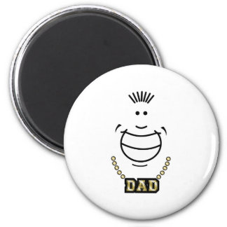 Dimples Dad White Magnet