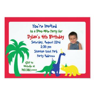 Din0-mite Birthday Invitation