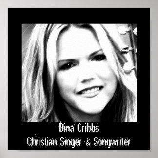 Dina Cribbs singer songwriter poster