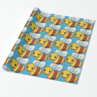 Dina manosea el papel de embalaje de la abeja papel de regalo