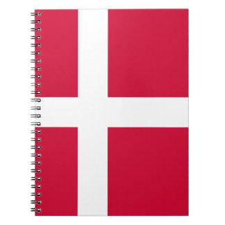 Dinamarca - bandera danesa cuaderno