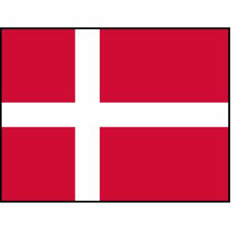Dinamarca - bandera danesa fotoescultura vertical