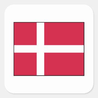 Dinamarca - bandera danesa pegatina cuadrada