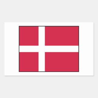 Dinamarca - bandera danesa pegatina rectangular