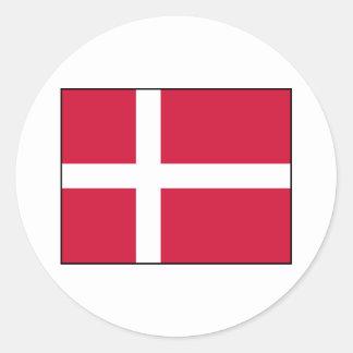 Dinamarca - bandera danesa pegatina redonda
