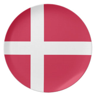 Dinamarca - bandera danesa platos