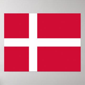 Dinamarca - bandera danesa póster