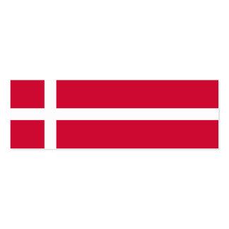 Dinamarca - bandera danesa plantilla de tarjeta de negocio