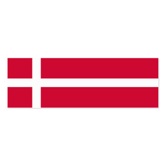 Dinamarca - bandera danesa tarjetas de visita mini