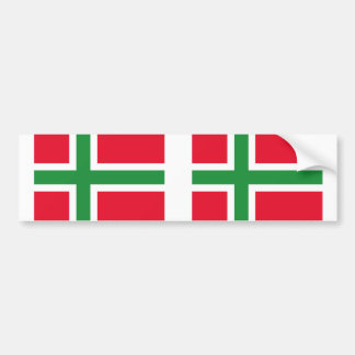 Dinamarca bandera de Bornholm, Dinamarca Pegatina Para Auto