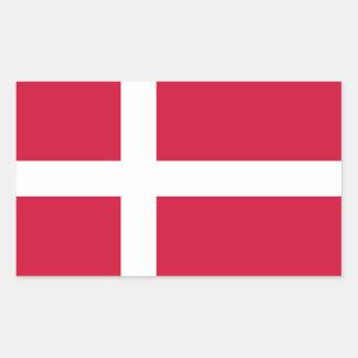 Dinamarca - bandera nacional danesa pegatina rectangular