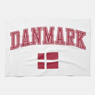 Dinamarca + Bandera Toallas De Cocina