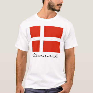 Dinamarca con Dannebrog Playera