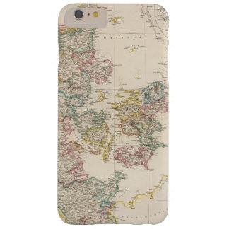 Dinamarca con el mapa de inserción de Islandia Funda De iPhone 6 Plus Barely There