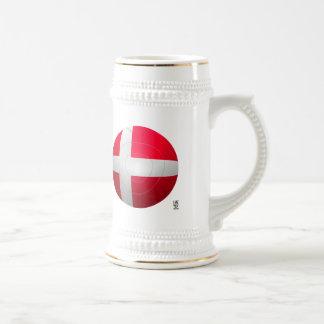 Dinamarca - De Rød-Hvide Football Tazas