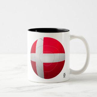 Dinamarca - De Rød-Hvide Football Taza De Café