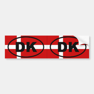 Dinamarca - DK - óvalo europeo Pegatina Para Auto