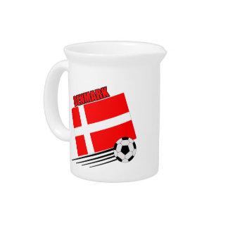 Dinamarca - equipo de fútbol jarra de beber
