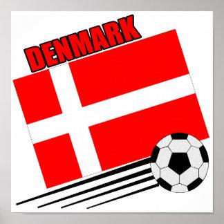 Dinamarca - equipo de fútbol póster