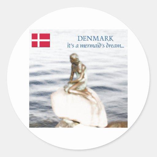 Dinamarca Etiqueta Redonda