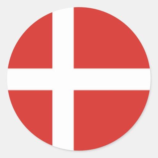 Dinamarca Etiquetas Redondas
