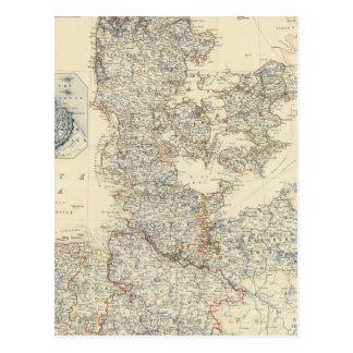 Dinamarca, Hannover, Brunswick, Mecklenburg Tarjeta Postal