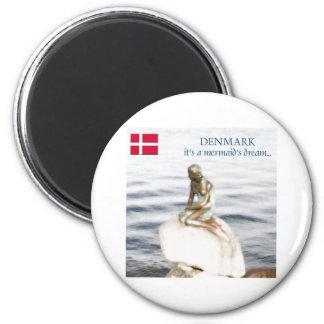 Dinamarca Imán Redondo 5 Cm