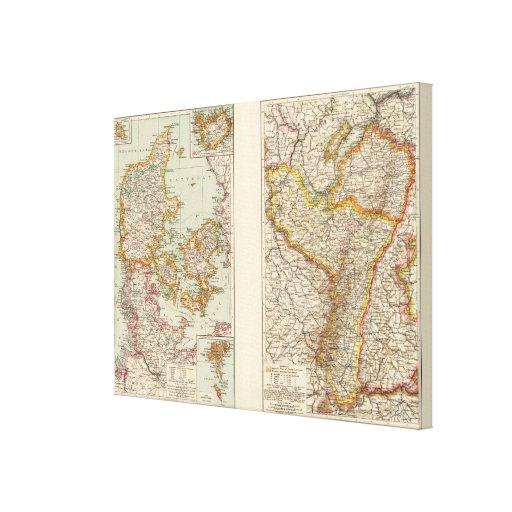 Dinamarca, la Alsacia-Lorena, Palatinado Impresion En Lona