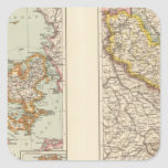 Dinamarca, la Alsacia-Lorena, Palatinado Pegatinas Cuadradases Personalizadas