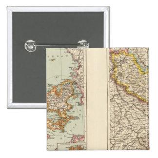Dinamarca, la Alsacia-Lorena, Palatinado Pin Cuadrado