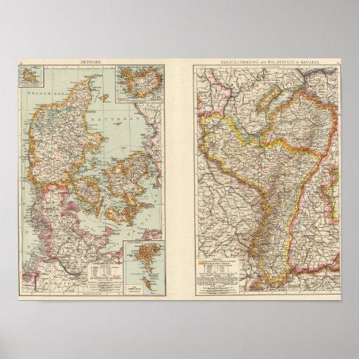Dinamarca, la Alsacia-Lorena, Palatinado Poster