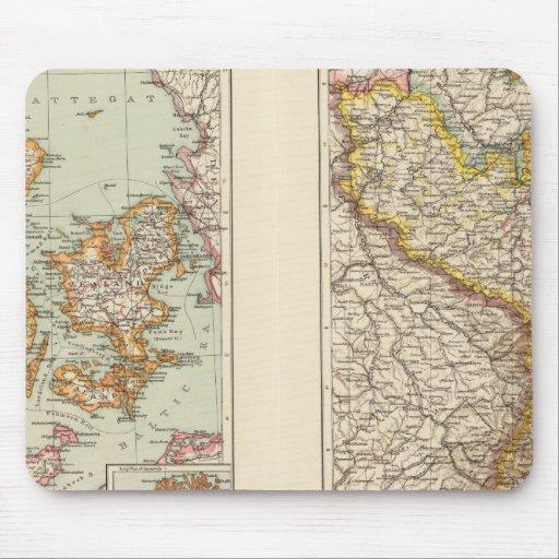 Dinamarca, la Alsacia-Lorena, Palatinado Alfombrillas De Ratón
