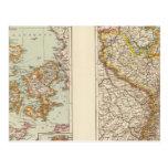 Dinamarca, la Alsacia-Lorena, Palatinado Tarjeta Postal
