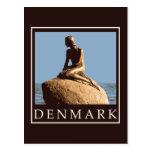 Dinamarca little mermaid postal