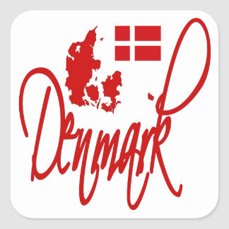 Dinamarca Pegatina Cuadrada
