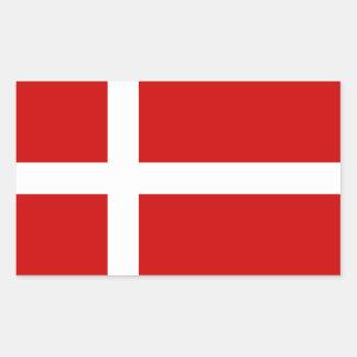 Dinamarca Pegatina Rectangular