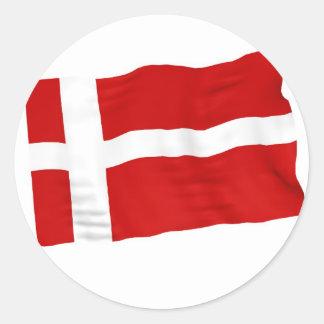 Dinamarca Pegatina Redonda