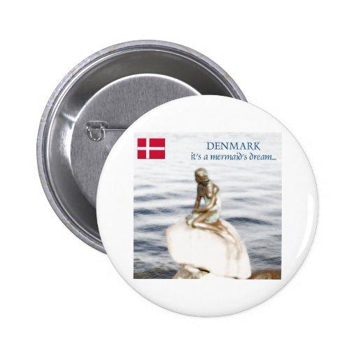 Dinamarca Pin Redondo De 2 Pulgadas