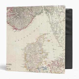 "Dinamarca, pinta de Noruega Carpeta 1 1/2"""